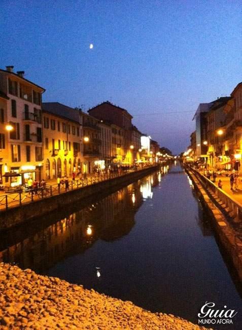 O que fazer em Milão - Canal com bares no Bairro Navigli