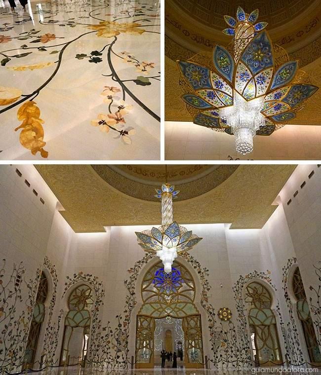 Detalhes da Mesquita de Abu Dhabi