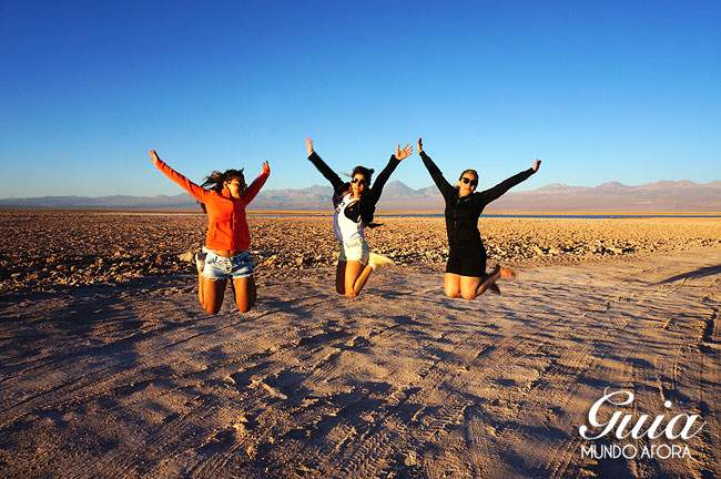 Roupas na Laguna Cejar, Atacama
