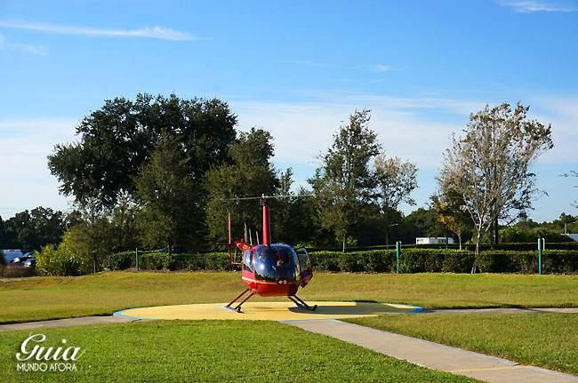 Helicóptero nos esperando.