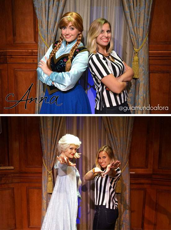 Anna e Elsa de Frozen no Magic Kingdom