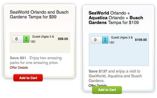 Preços dos ingressos Combo Seawold e Busch Gardens