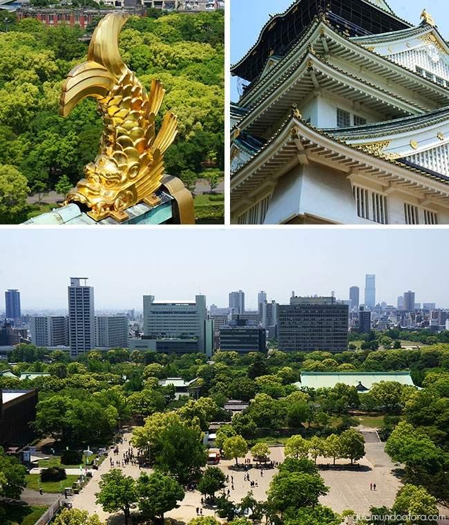 Detalhes do Castelo de Osaka
