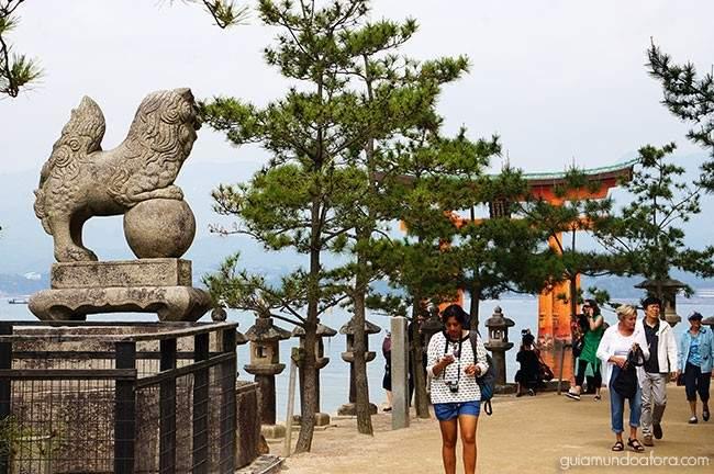 Ilha de Miyajima, de terra batida