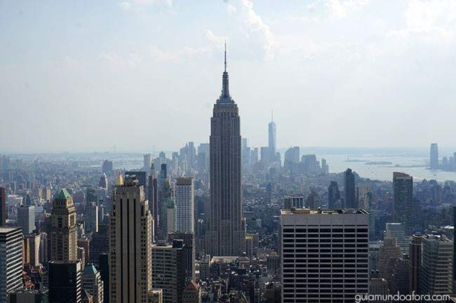 Empire State Building visto do Top of the Rock