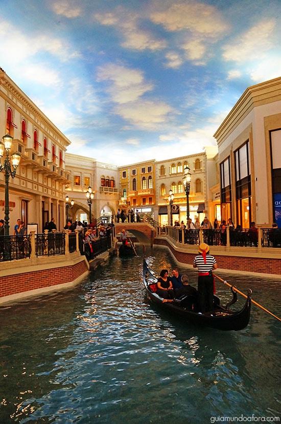 gôndola em Las Vegas
