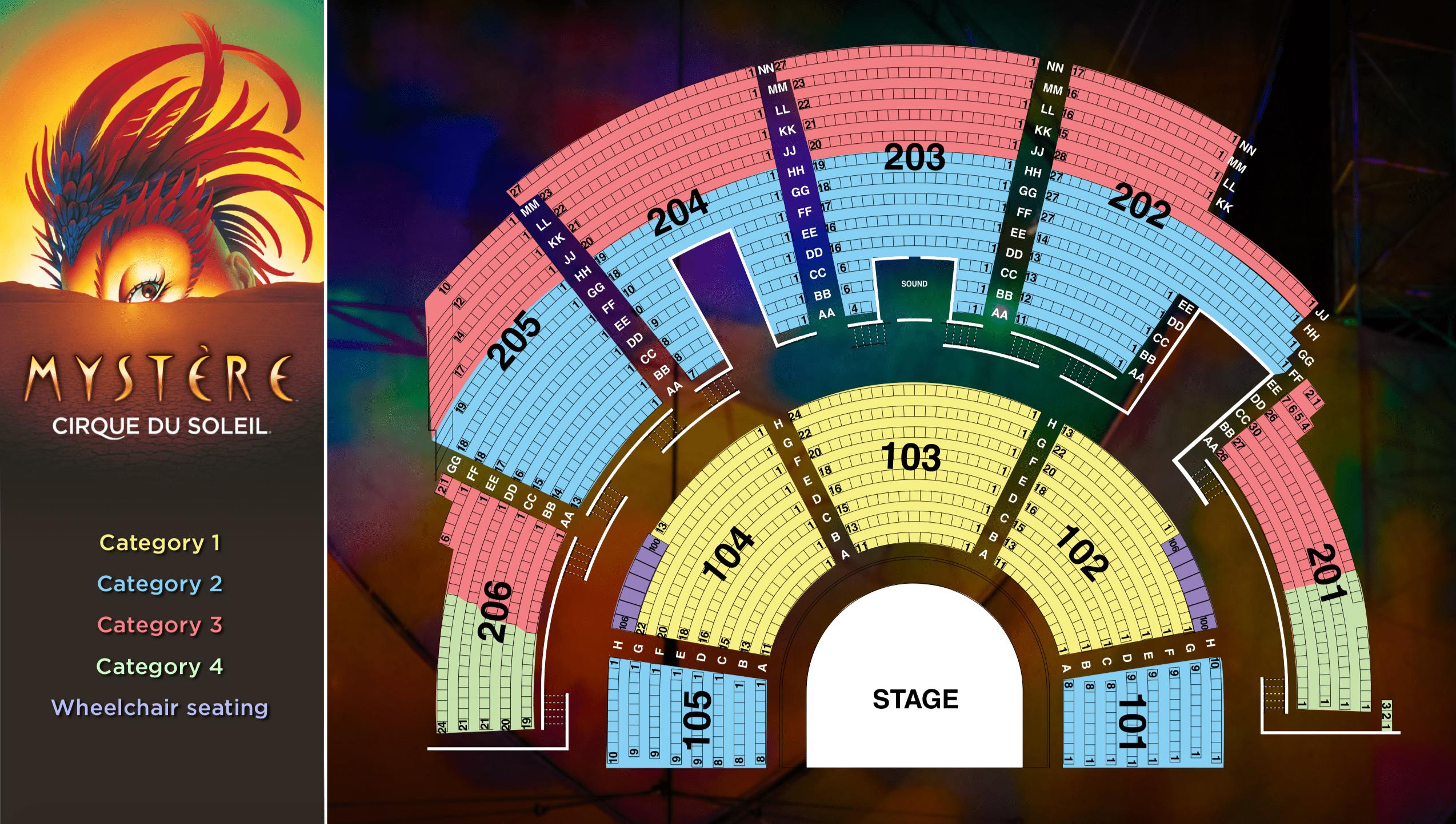 teatro Cirque du Soleil Mystère