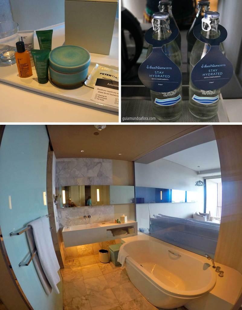 banheiro do hotel Hilton Pattaya
