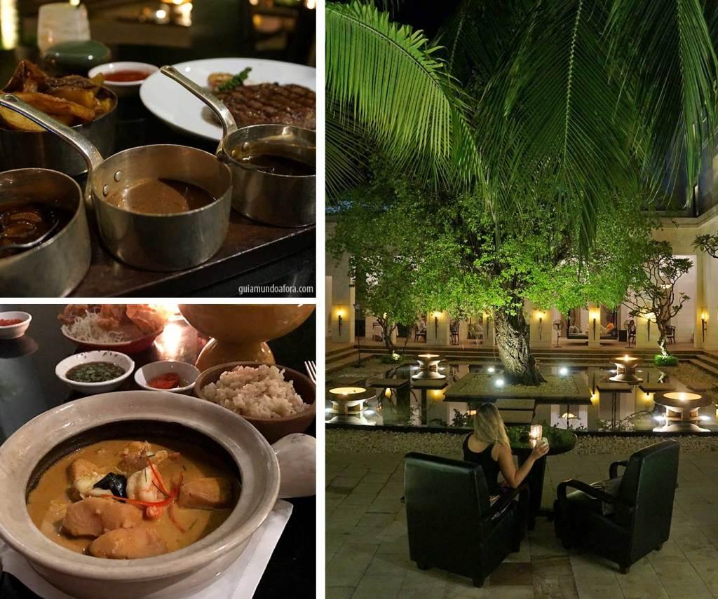 Jantar no hotel Park Hyatt Siem Reap