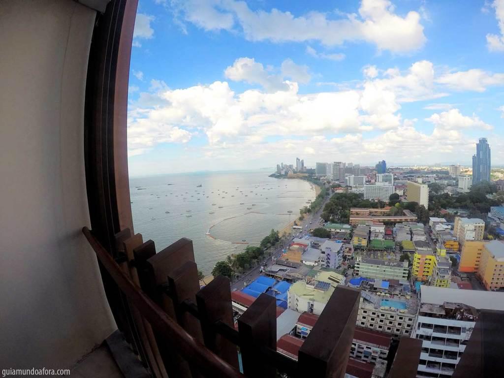 Vista do quarto do Hotel Hilton Pattaya