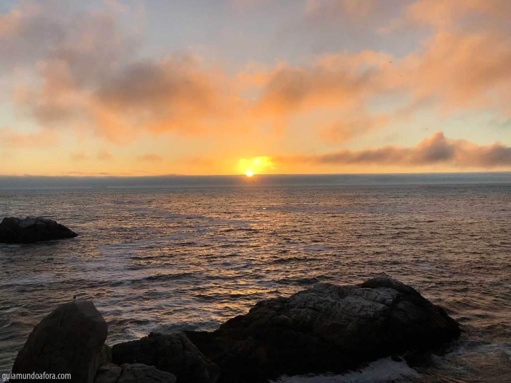 Por do sol em Vina del Mar