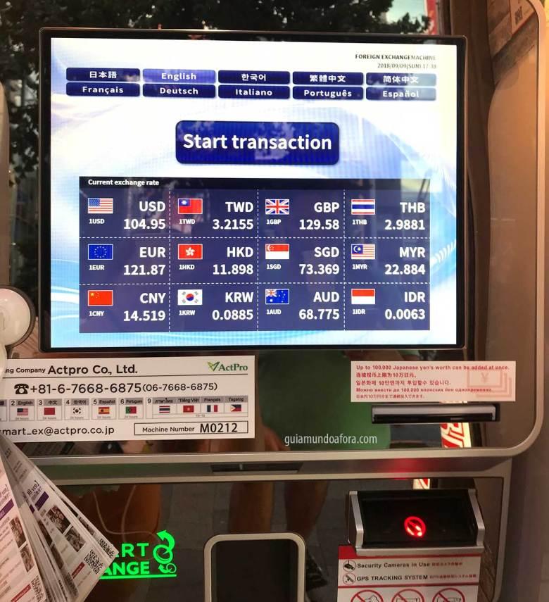 conversão do iene