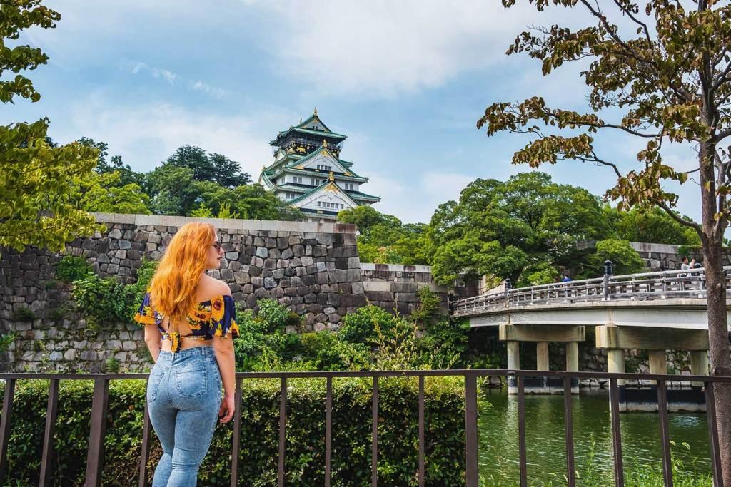 Castelo de Osaka no Japão