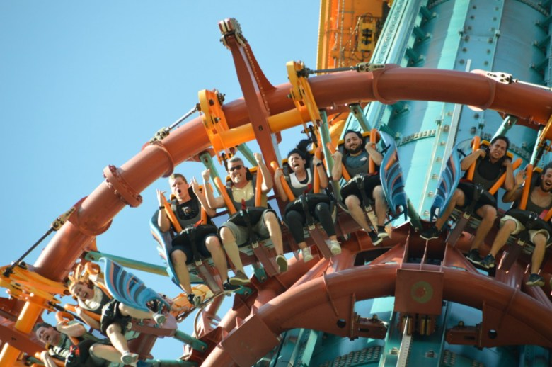 Falcon´s Fury atração tipo elevador do Busch Gardens Tampa
