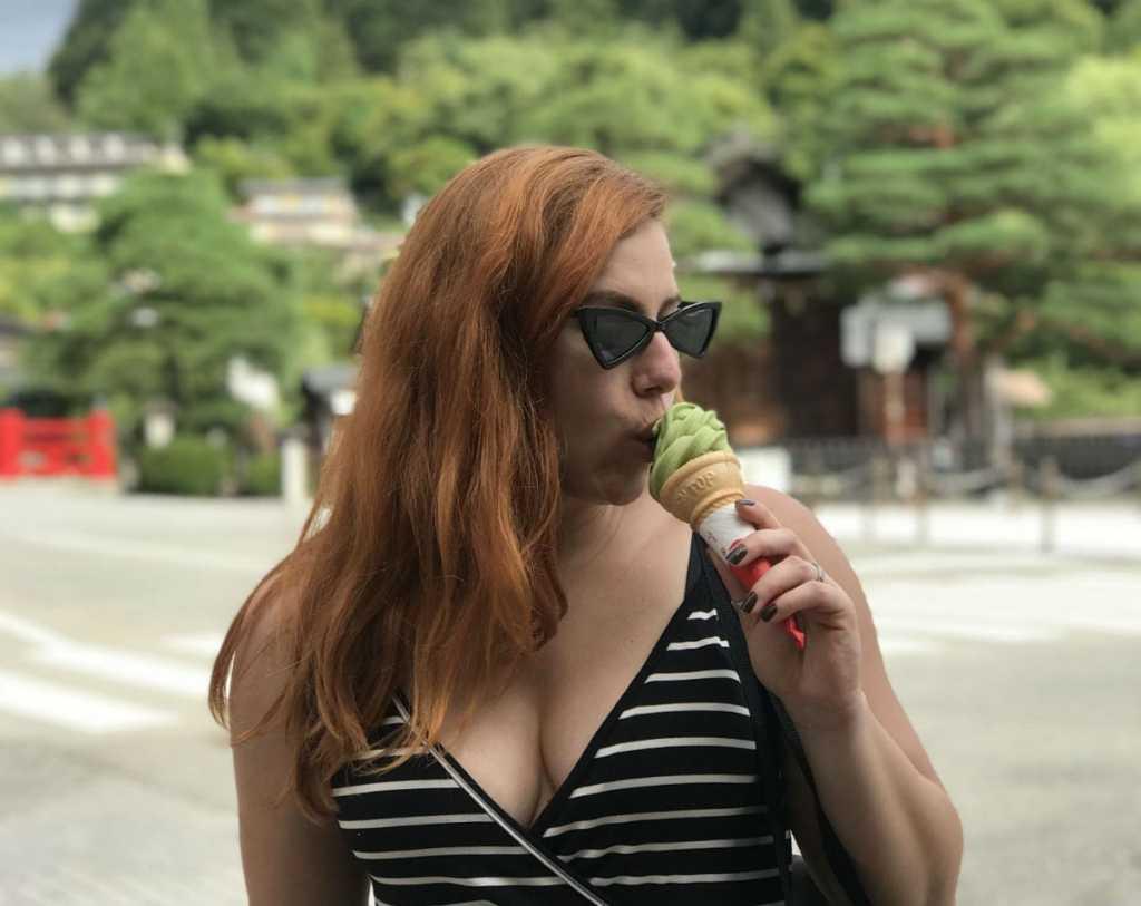 sorvete de matcha