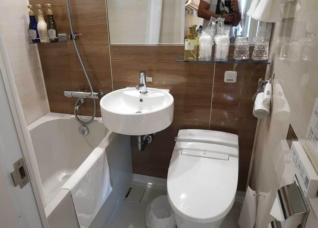 hotéis no Japão banheiro