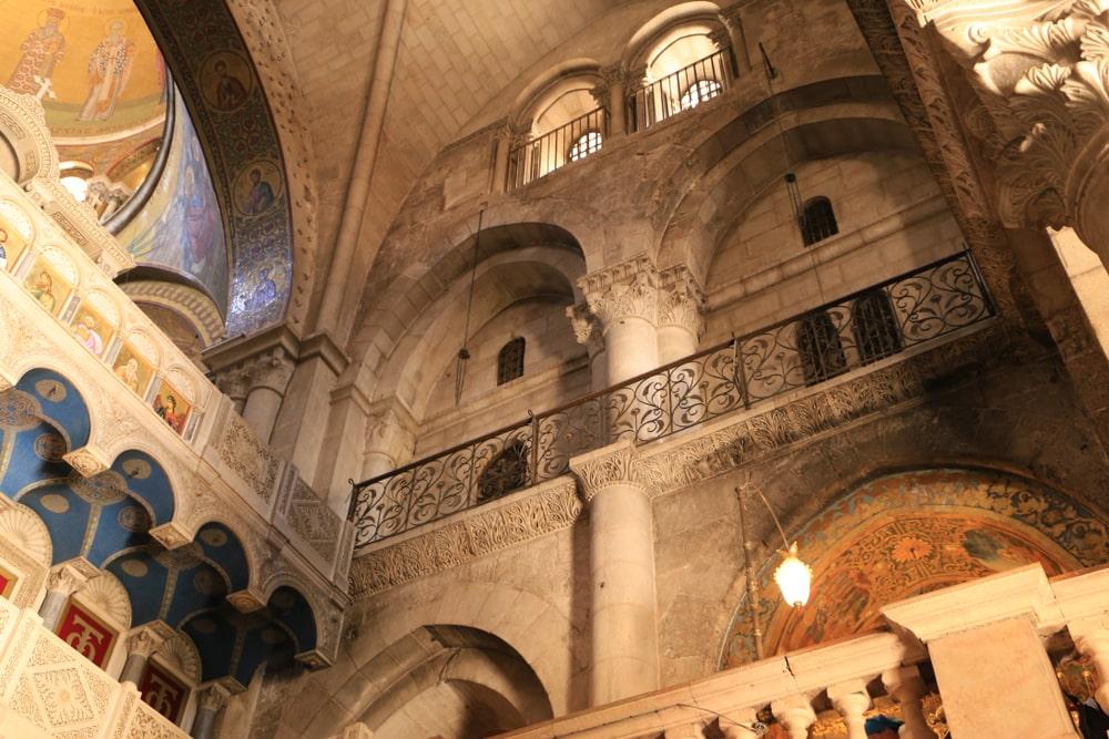 Detalhe da igreja do santo sepulcro em Jerusalem
