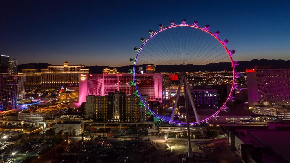 High Roller Las Vegas a noite