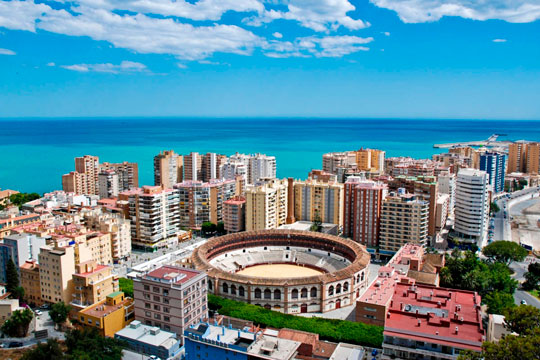 images of the city of Malaga