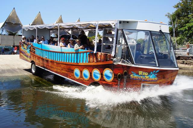 Ônibus anfíbio - Sesc oferece um mergulho cultural pelo Rio