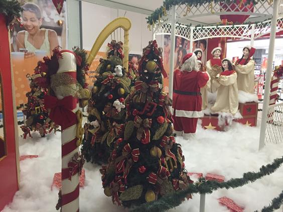 Decoração Natal Pátio Alcântara