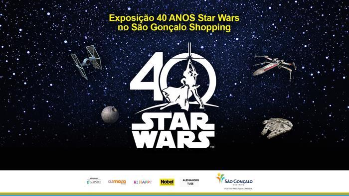 """xposição """"40 Anos Star Wars"""""""