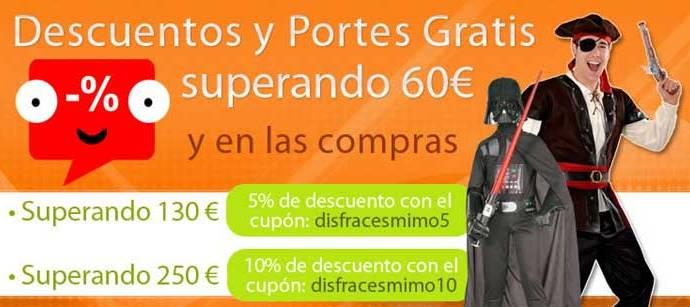 Venta de disfraces Blackfriday Cibermonday