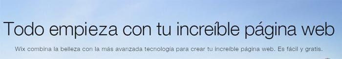 Wix páginas web gratis