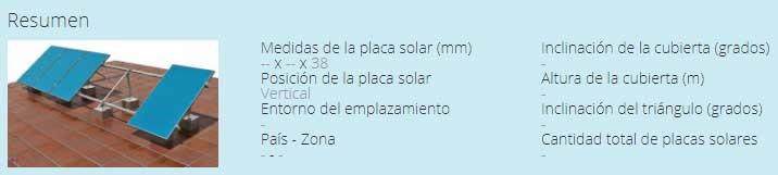 Configurador estructuras placas solares