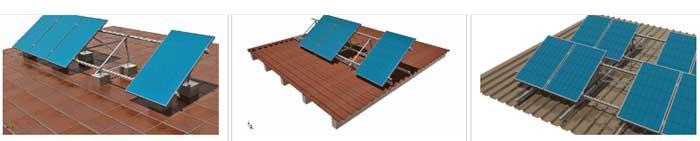 Estructuras solares para placas tejados