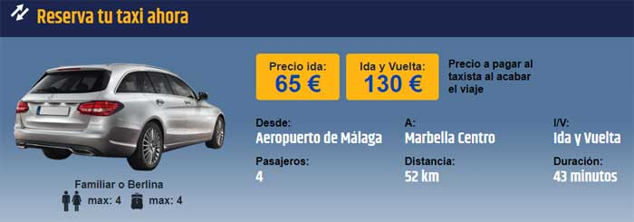 Reserva taxi Aeropuerto Málaga