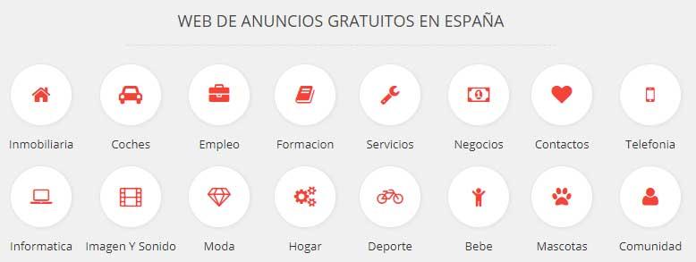Anuncios gratis España
