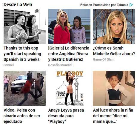 Ejemplo publicidad nativa Universal México