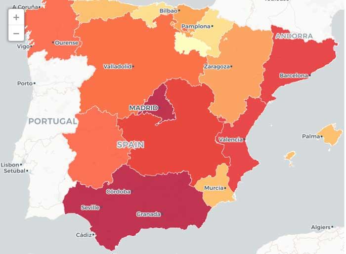 Cuántas armas hay en España