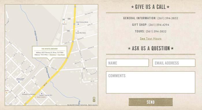 Ejemplo página de contacto