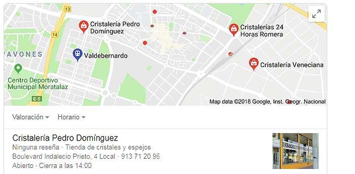 Cristalerías en Madrid