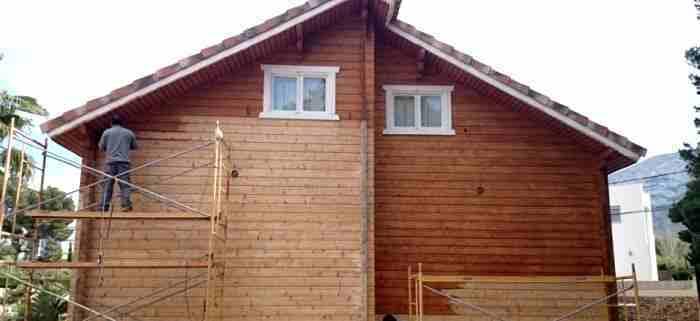 Barnices para casas de madera