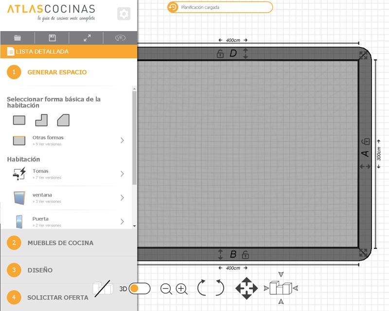 Planificador 3D Atlas Cocinas