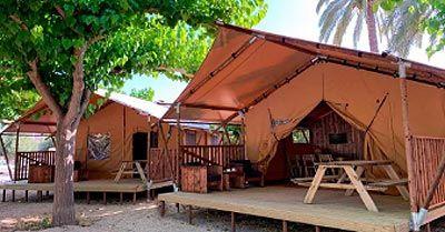 Tiendas campañas safari camping