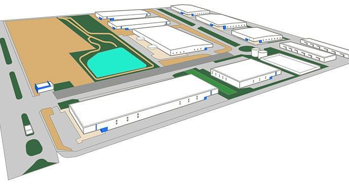 Parque industrial logístico
