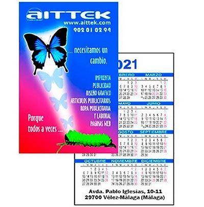 Calendarios personalizados de bolsillo