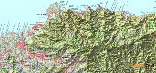 ma de ruta y zona de Cruz del Carmen