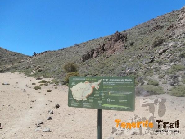 Sendero 29 acceso a la Degollada del Cedro
