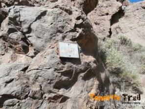 Detalle sendero 3 Parque Nacional del Teide