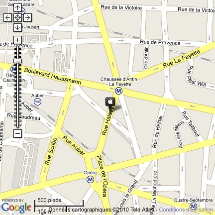 Plan Apple Store Paris Opéra
