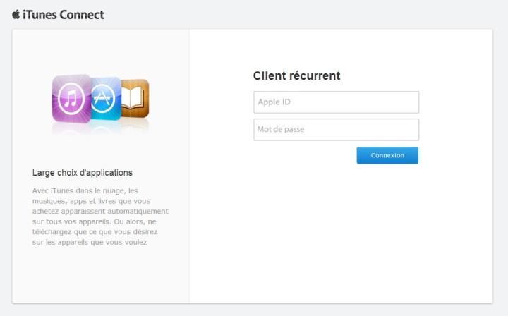 Connexion Phishing iTunes