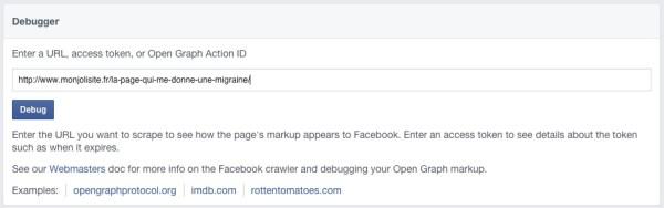 vider le cache de facebook