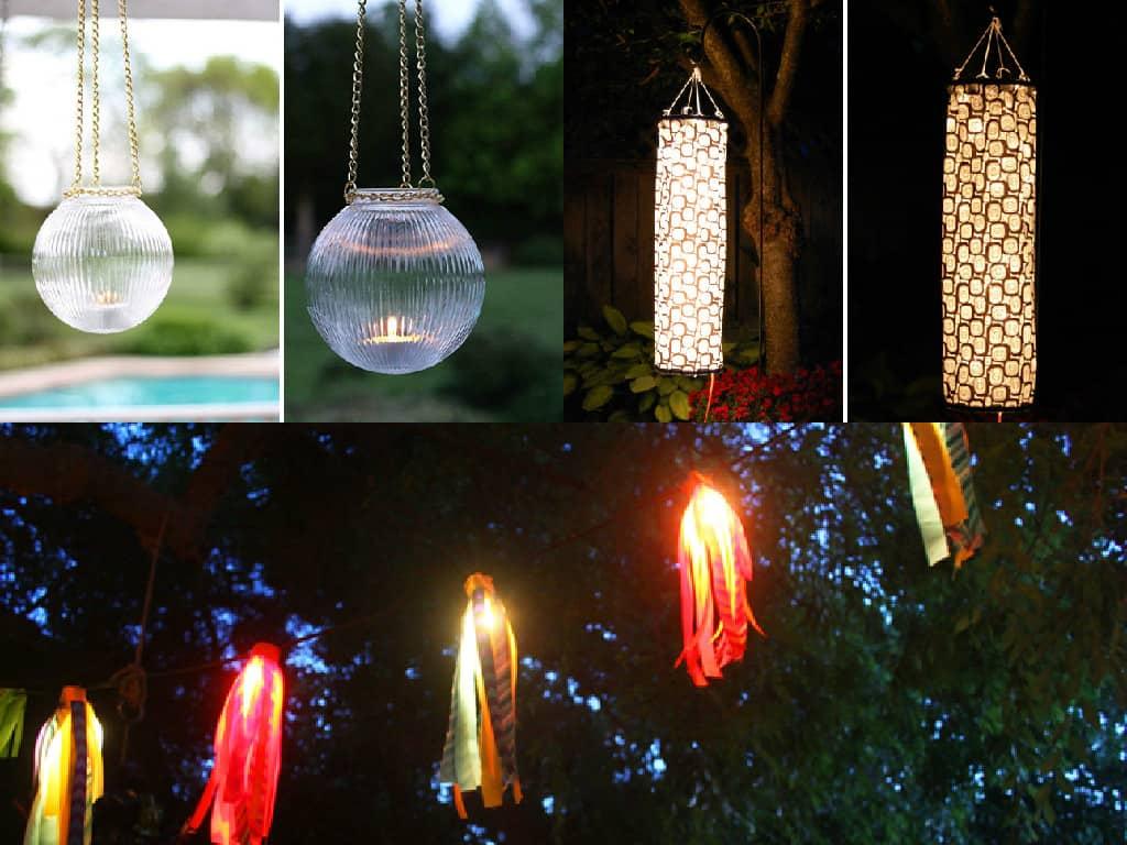 10 idee fai da te per illuminare il giardino guida giardino - Luci da giardino ikea ...