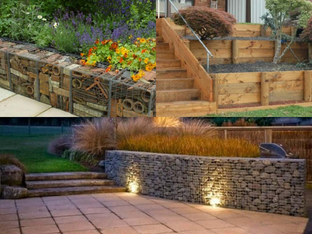 7 idee per realizzare pareti di sostegno nel giardino ...