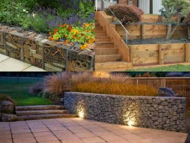 7 idee per realizzare pareti di sostegno nel giardino for Costruire un garage su un terreno in pendenza